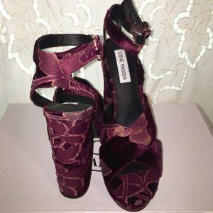 f9dd9839dbb Steve Madden Shoes - Steve Madden JODI Burgundy Velvet Heels